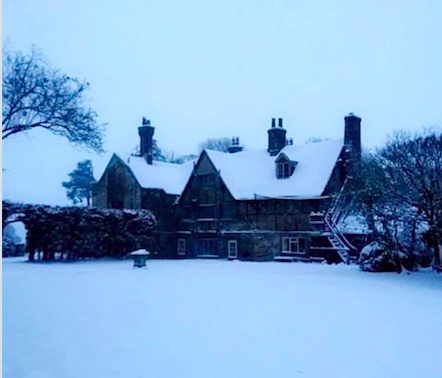 Wolfhall in snow Feb 1 2019